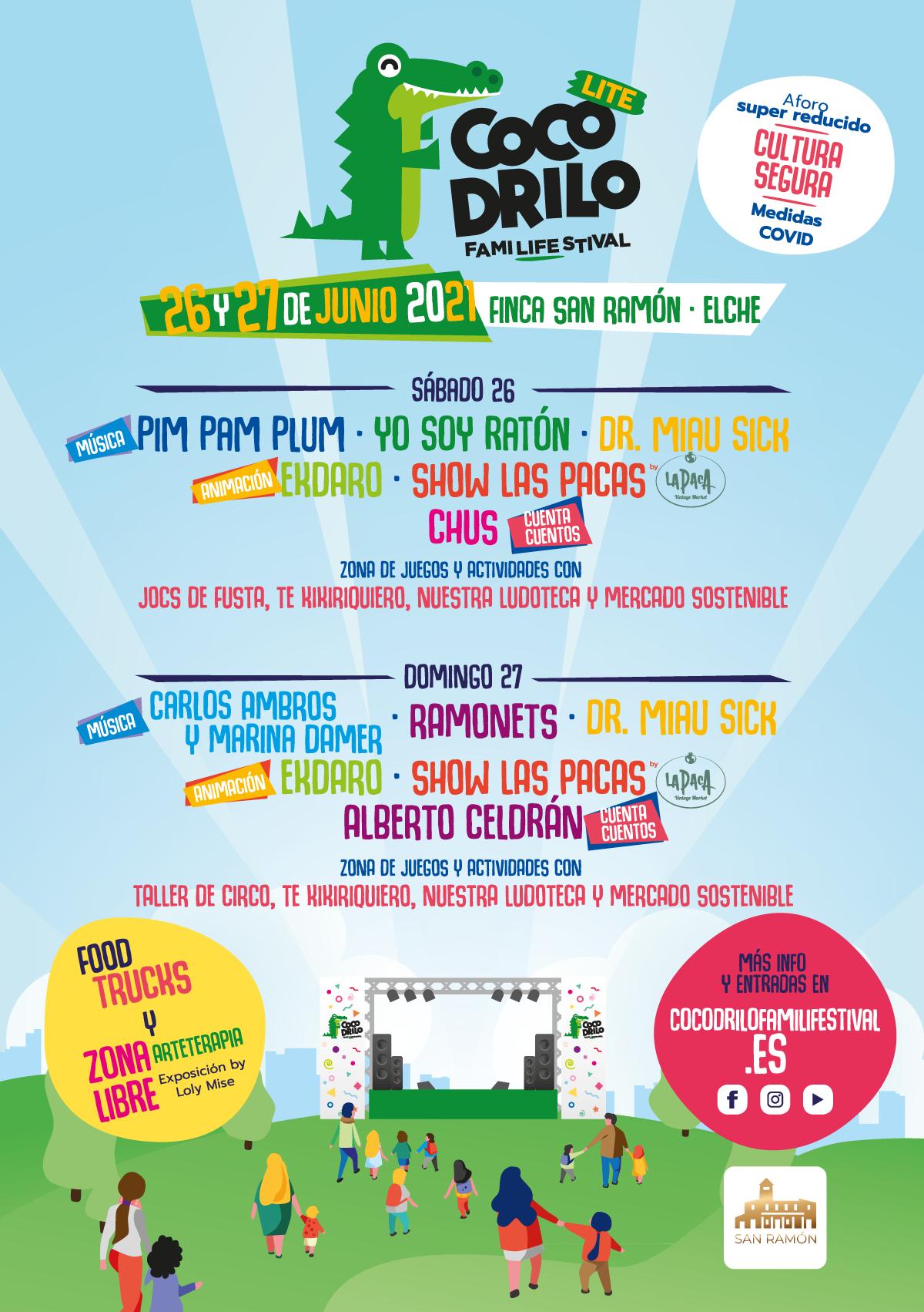 cartel cocodrilo familifestival 2021 ocio infantil de calidad